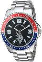 ユーエスポロアッスン 腕時計 メンズ 【送料無料】U.S. Polo Assn. Men's Analog-Quartz Watch with Alloy Strap, Silver, 21 (Model: USC80500)ユーエスポロアッスン 腕時計 メンズ