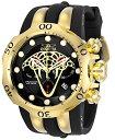 インヴィクタ インビクタ 腕時計 メンズ Invicta Men's Venom Stainless Steel Quartz Watch with Silicone Strap, Black and Gold, 36 (Model: 28387)インヴィクタ インビクタ 腕時計 メンズ