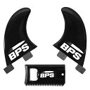 サーフィン フィン マリンスポーツ 【送料無料】BPS 2-Piece Side Bites Fins - Glass Flex Surf Fin Set (FCS GL Style)?- Side-Bites for 2+1 Setup Longboard, Surfboard, or SUP - Comes with Waxcomb (Classic Black)サーフィン フィン マリンスポーツ