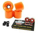 ベアリング スケボー スケートボード 海外モデル 直輸入 Owlsome ABEC 7 Precision Bearings + 70mm Longboard Skateboard Wheels (Solid Orange)ベアリング スケボー スケートボード 海外モデル 直輸入