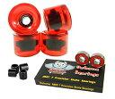 ベアリング スケボー スケートボード 海外モデル 直輸入 Owlsome ABEC 7 Precision Bearings + 76mm Longboard Skateboard Wheels (Gel Red)ベアリング スケボー スケートボード 海外モデル 直輸入