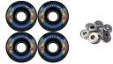 ウィール タイヤ スケボー スケートボード 海外モデル TGM Skateboards KRYPTONICS Route 65MM 78A Black Longboard Skate Wheels + ABEC 9 Bearingsウィール タイヤ スケボー スケートボード 海外モデル