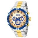 腕時計 インヴィクタ インビクタ メンズ 【送料無料】Invicta Pro Diver Chronograph Quartz Gold Dial Men's Watch 25981腕時計 インヴィクタ インビクタ メンズ