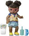 ベビーアライブ 赤ちゃん おままごと ベビー人形 【送料無料】Baby Alive Step 'N Giggle Baby Black Hair Doll with Light-Up Shoes, Responds with 25 Sounds Phrases, Drinks Wets, Toy for Kids Ages 3ベビーアライブ 赤ちゃん おままごと ベビー人形