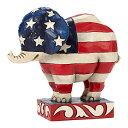 エネスコ Enesco 置物 インテリア ディズニー 海外モデル 【送料無料】Enesco Jim Shore Patriotic Pride Republican Elephant Pint Size Figurine 4052077 HWC Newエネスコ Enesco 置物 インテリア ディズニー 海外モデル