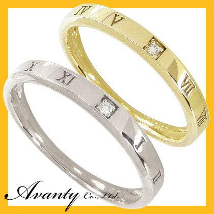 【刻印無料/送料無料】マリッジリング 結婚指輪 ペア 2本セット 1粒ダイヤモンド0.01ct K10ホワイトゴールド K10WG K10イエローゴールド K10YG ペアリング ラッピング無料(ジュエリーボックス+手提小袋)ペアリング マリッジリング 結婚指輪K10ホワイトゴールド K10イエローゴールド