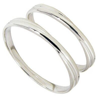 【刻印無料】マリッジリング:ペアリング:2本セット:結婚指輪/K10ホワイトゴールド:K10WG