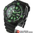 カシオ CASIO メンズ 腕時計 アナログ デイデイト スタンダード MRW-200H-3B ブラック/グリーン 海外モデル 【あす楽】