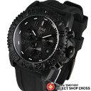 ルミノックス LUMINOX 3081 メンズ腕時計 リストウォッチ US Navy SEALs カラーマーク クロノグラフ ブラックアウト ブラック