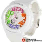 カシオ Baby-G ベビーG ネオンダイアルシリーズ Neon Dial Series アナログ 腕時計 BGA-131-7B3DR ホワイト 海外モデル