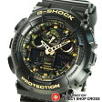 Gショック カシオ G-SHOCK CASIO メンズ 腕時計 アナデジ ビッグケース GA-100CF-1A9DR ブラック ゴールド カモフラージュ柄 海外モデル