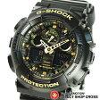 Gショック カシオ G-SHOCK CASIO メンズ 腕時計 アナデジ ビッグケース GA-100CF-1A9DR ブラック ゴールド カモフラージュ柄 海外モデル 【あす楽】