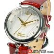 ヴィヴィアン・ウエストウッド Vivienne Westwood レディース 腕時計 アナログ オーブ チャーム付き レザーベルト VV108WHRD レッド 赤色