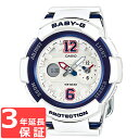 カシオ BABY-G レディース 腕時計 BGA-210-7B2JF 白×青