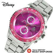 Disney ディズニー ミッキー メンズ 腕時計 MK80周年記念時計 1050147 スワロフスキー付き メタルバンド ピンク MK1050147-pk 【あす楽】