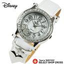 Disney ディズニー ミッキー 腕時計 MKハートチャーム レディース クォーツ スワロフスキー付 本革 レザーベルト ホワイト MK120029-svwh