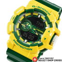 G-SHOCK メンズ アナデジ 腕時計 GA-400CS-9ADR 黄×グリーン