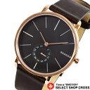 スカーゲン SKAGEN ハーゲン HAGEN クオーツ 腕時計 ダークブラウン×ローズゴールド レザーベルト SKW6213