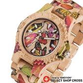 WEWOOD ウィーウッド DATE PRINT BUTTERFLY BEIGE デイト プリントバタフライ×ベージュ ハンドメイド 木製腕時計 9818087