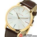 ポールスミス 腕時計 MA レザーベルト 銀×ピンクゴールド/茶