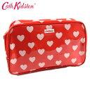 Cath Kidston キャスキッドソン スパバッグ/温泉ポーチ PVC Box Wash bag ボックスウォッシュバッグ レッドハート 506441