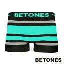 BETONES ビトーンズ ボクサーパンツ/アンダーウェア/インナーウェア メンズ ボーダー柄 BREATH BLACK ブレス ブラック BB001 EMERALD エメラルド BB001-10-EM