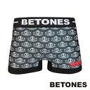 BETONES ビトーンズ ボクサーパンツ メンズ BETONES×COSMOS-ALIEN-SERIES Collaboration コスモス エイリアンコラボ BLACK ブラック CAS001-3-BK