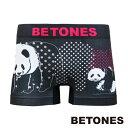 BETONES ビトーンズ ボクサーパンツ/アンダーウェア/インナーウェア メンズ アニマル柄 ANIMAL4 パンダ BLACK ブラック D004-9-BK