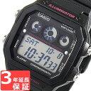 カシオ CASIO スタンダード スポーツ デジタル ストップウオッチ ワールドタイム ユニセックス メンズ 腕時計 AE-1300WH-1A2 ブラック/ピンク 海外モデル