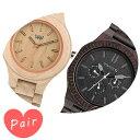【ペアウォッチ】 WEWOOD ウィーウッド腕時計ナチュラルウッド ハンドメイドアンテアピーチカッパブラックwewood-9818024wewood-9818029
