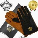 ショッピングオロビアンコ オロビアンコ OROBIANCO レザーグローブ メンズ 手袋 ORM-1531 ダークブラウン×キャメル Lサイズ:8.5(24cm) 羊革 ウール D.BROWN CAMEL