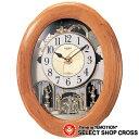 シチズンl CITIZEN RHYTHM CLOCK リズムクロック スモールワールドソルシア クォーツ 掛時計 4mn422ra06 ブラウン×ホワイト