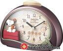 シチズンl CITIZEN Rhythm Clock リズムクロック キャラクタークロックスヌーピー クォーツ 置時計 4se506mj09 エンジ