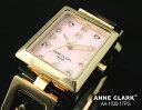 アンクラーク ANNE CLARK レディース 腕時計 ブランド アナログ トランプ 天然シェル文字盤 AA1030-17PG ピンク/ゴールド