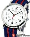 【お取寄せ】タイメックス TIMEX 男女兼用 腕時計 アナログ ウィークエンダー セントラルパーク フルサイズ 2N747 ホワイト/レッド 赤×ネイビー
