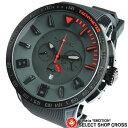 Tendence テンデンス 腕時計 ユニセックス アナログ クロノグラフ Gulliver Sport Chronograph TT560005 グレーレッド