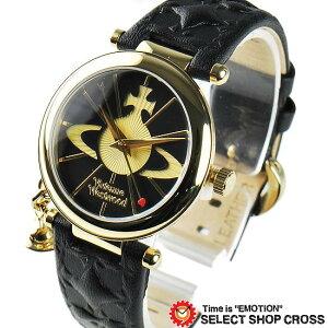 ヴィヴィアン・ウエストウッド Vivienne Westwood レディース チャーム付き アナログ 腕時計 VV006BKGD ゴールド/ブラック 黒 【女性用腕時計 リストウォッチ ランキング ブランド かわいい カラフル】【着後レビューを書いて1000円OFFクーポンGET】