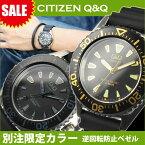 シチズン Q&Q クロス限定モデル アナログ W366 選べる2カラー オールブラック ブラック×ゴールド メール便発送/代引きは送料・手数料別途