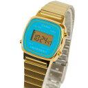 カシオ CASIO レディース 腕時計 デジタル表示 LA670WGA-2DF 海外モデル ゴールド×ブルー 【ベルト調整説明書付】 【女性用腕時計 スポーツ リストウォッチ ランキング ブランド かわいい カラフル】【キッズ】 チープカシオ 【あす楽】