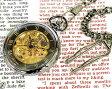 懐中時計 メカニカル ポケット 腕時計 両面スケルトン BR925-GAGD ガンメタ×ゴールド 【男性用腕時計 リストウォッチ ランキング ブランド 防水 カラフル】懐中時計