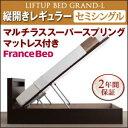 新開閉タイプが選べるガス圧式跳ね上げ大容量収納ベッド【Gra...