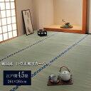 純国産/日本製 双目織 い草上敷 『ほほえみ』 江戸間4.5畳(約261×261cm)