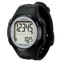 腕時計型 万歩計/歩数計 【ブラック×シルバー TM500-BKSL】 電波時計内蔵 生活防水 『DEMPA MANPO』 〔運動用品〕【代引不可】