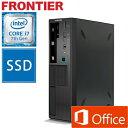フロンティア 省スペース デスクトップパソコン [Windows10 Core i7-6700 8GBメモリ 275GB SSD 1TB HDD MS Office 2016 Personal] FRFS..