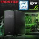フロンティア デスクトップパソコン [Windows10 Core i7-7700 16GB メモリ 2TB HDD 250GB SSD GeForce GTX 1080] FRGEH270ML/E12 FRONT..
