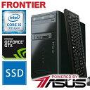 フロンティア デスクトップパソコン [Windows10 Core i5-7400 8GB メモリ 250GB SSD 1TB HDD GTX1050] FRMXH270ML/E8 FRONTIER【新品】..