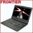 【新品】FRONTIER(フロンティア)15.6型ノート Windows10 Core i7-6700HQ 8GBメモリ 275GB SSD 500GB HDD GeForce GTX1060 FRXN710/E2【..