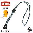 【エントリーでポイント10倍】チャムス メガネチェーン Rope ロープ FC-35 ネイビー柄 ストパー付きグラスコード