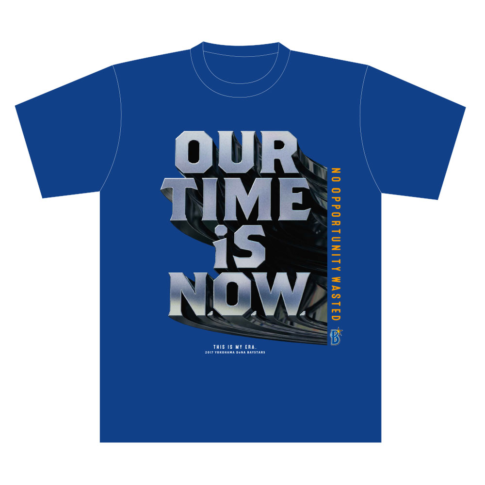 NEW 横浜DeNAベイスターズTシャツ(OUR TIME IS N.O.W.)横浜