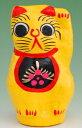 占蔔, 開運, 風水, 能量石 - 縁起物 招き猫 0.5号黄【送料無料】